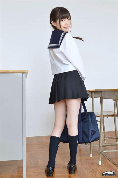 久宥茜のお下げ髪がとってもキュートなセーラー服 女子校生制服マニアックス
