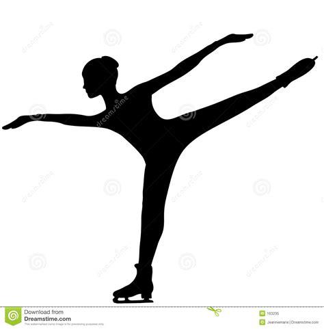 figure skater silhouette royalty  stock photo