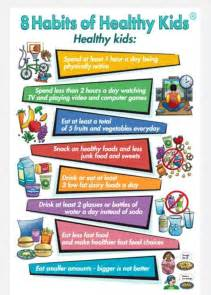 Healthy Habits for Kids Printable
