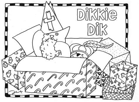 Dikkie Dik Sinterklaas Kleurplaat by Sint Kleurplaat Dikkie Dik Kleurplaten