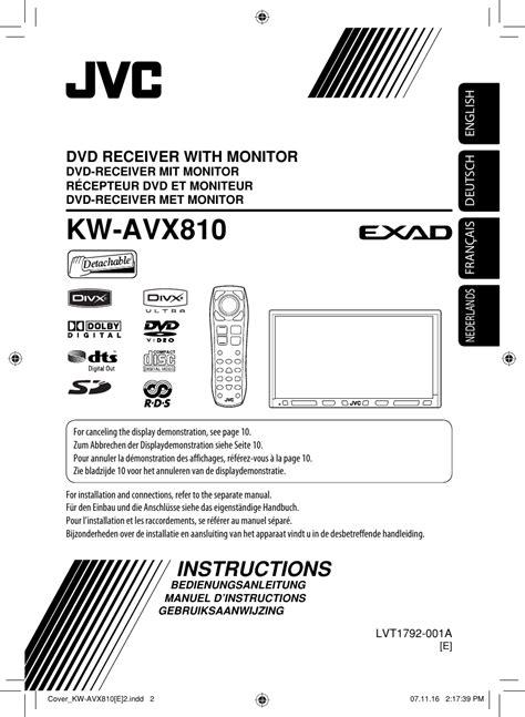 JVC KW AVX810E AVX810 [E] Instructions User Manual LVT1792