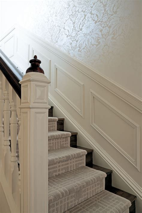 great bannister wand wainscoting   stairs