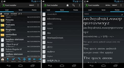 fonts for android how to change fonts on android