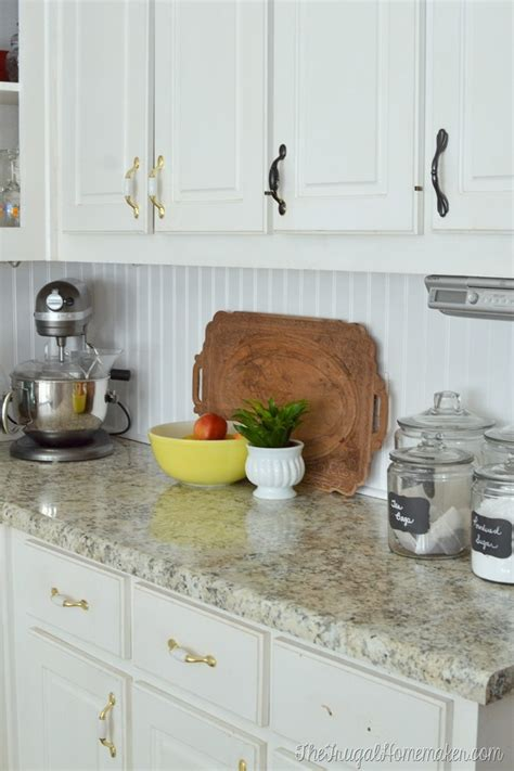 How To Install A Backsplash In Kitchen by How To Install A Diy Beadboard Backsplash Kitchen Makeover