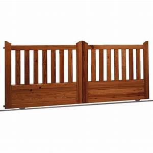 Lapeyre Portail Bois : portail coulissant lapeyre id es de ~ Premium-room.com Idées de Décoration