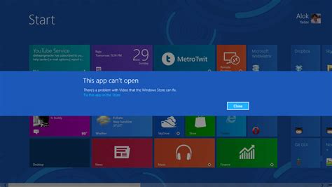 How To Solve Windows Metro 'this App Can't Open' Problem