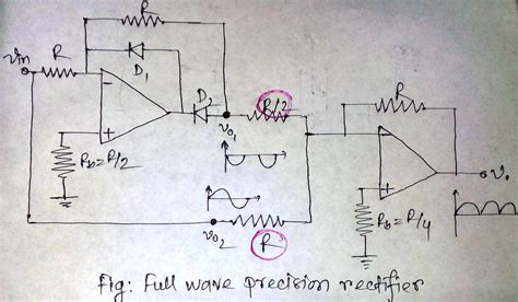 op amp     output    full wave