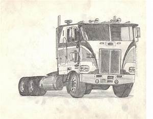 Amt Peterbilt Cabover Drawing - Auto Art