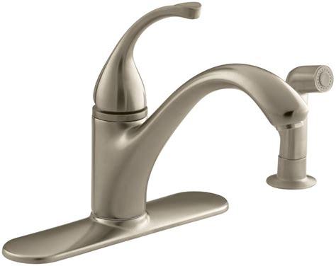 moen faucets kitchen repair kohler k 10412 bv brushed bronze single handle kitchen