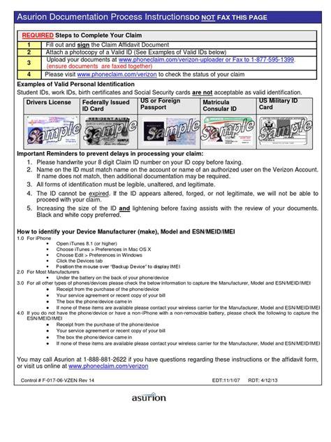 www phone claim asurion claim affidavit pdf