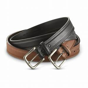 Guide Gear U00ae Raised Stitch Leather Belt