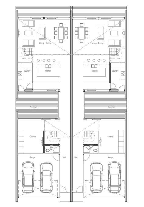 duplex floor plans for narrow lots duplex plans for small lots narrow lot duplex house plans