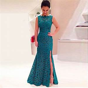 Abendkleider Long Lace Gown Teal ∞ For For Wedding Party