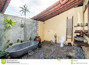 Traditional And Antique Bathroom Villa Design Stock Photo