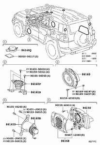 Toyota Fj Cruiser Speaker  Rear   Audio  Radio  Changer