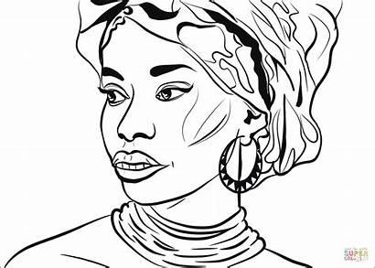 Afrika Colorir Zum Coloring Africana Colorear Ausmalbild
