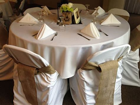 burlap chair covers and sashes available in burlap
