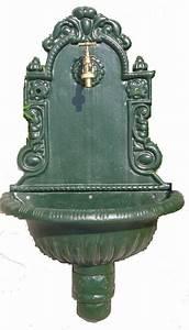 Fontaine De Jardin En Fonte : fontaine murale en fonte sceller 75x44x21cm ~ Melissatoandfro.com Idées de Décoration