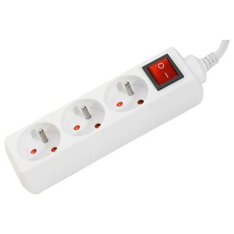 multiprise 3 prises avec interrupteur multiprise g 233 n 233 rique sur ldlc