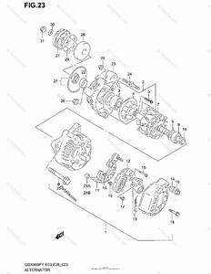 Suzuki Motorcycle 1998 Oem Parts Diagram For Alternator