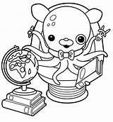 Octonauts Coloring Inkling Pages Professor Activity sketch template