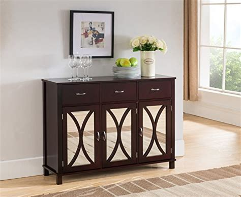 kings brand rutheron buffet server cabinetconsole table
