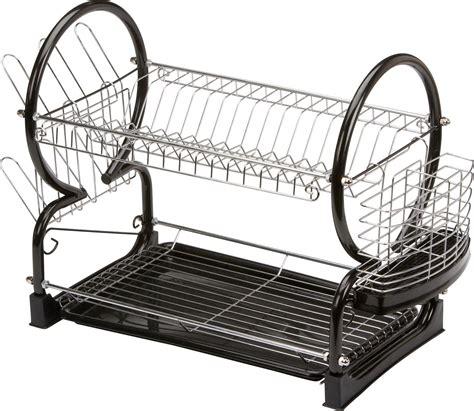 two tier dish rack home 2 tier dish rack black
