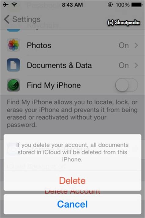 find my iphone without icloud how to remove icloud account directory for accounts