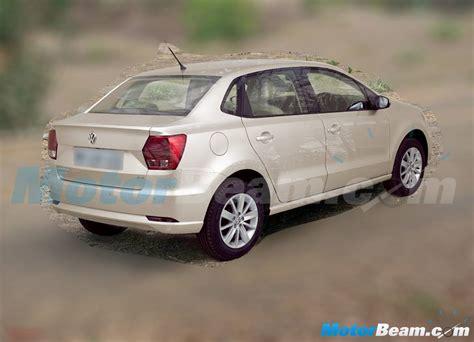 volkswagen ameo silver vw ameo compact sedan fully revealed in spyshot