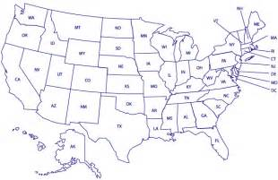 Printable US Map with State Abbreviations