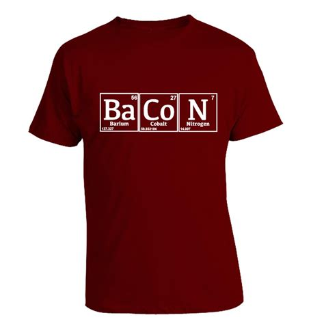 periodic table t shirt periodic bacon t shirt