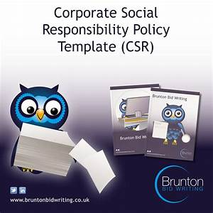 corporate social responsibility policy template for With corporate social responsibility policy template