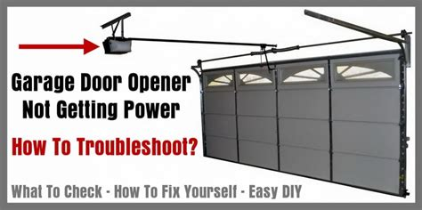 Door Opener No Power by How To Test Garage Door Opener Motor Impremedia Net
