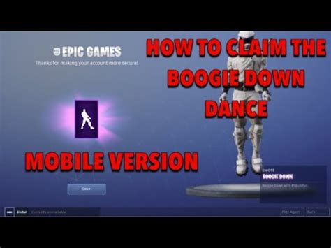 boogie  dance  fortnite mobile youtube