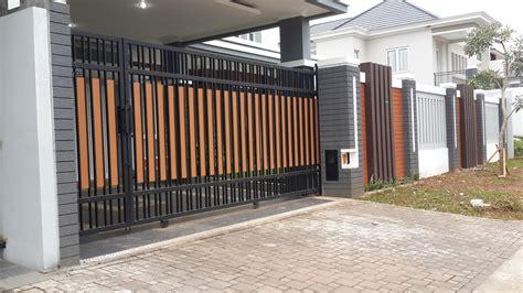gambar pagar rumah minimalis berbagai model desain