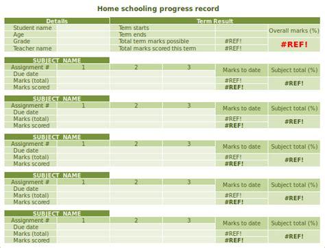 homeschool report card template   documents