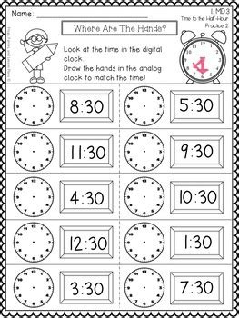 grade telling time  frogs fairies  lesson plans