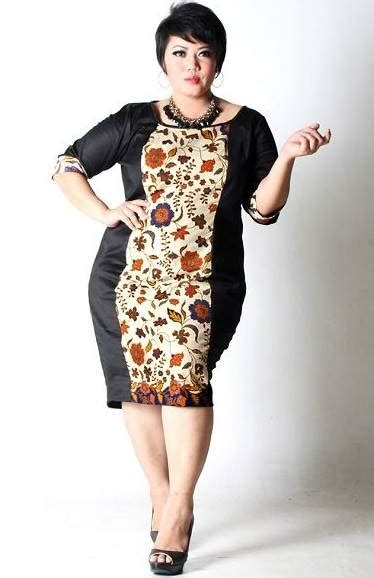 model baju batik wanita gemuk tampil cantik