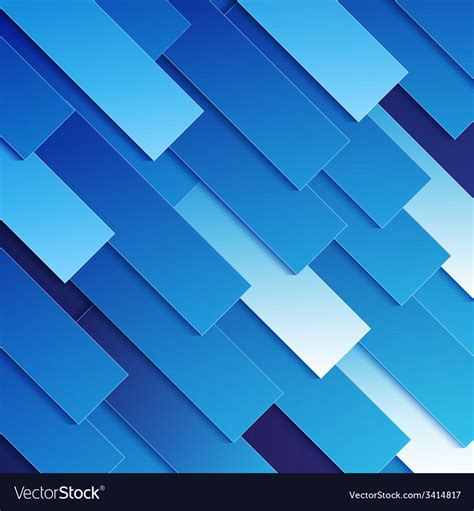 Abstract Blue Shapes Background by Abstract Blue Paper Rectangle Shapes Background Vector Image