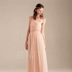 2015 Peach Bridesmaid Dress, Blush Pink Wedding Dress ...