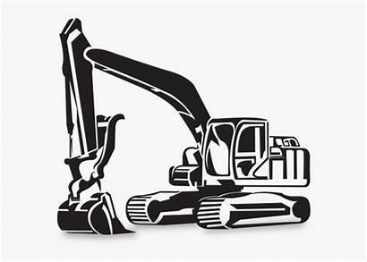 Excavator Clip Clipart Equipment Heavy Backhoe Excavating