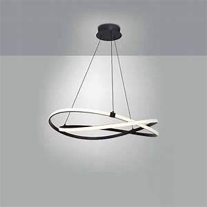 Luminaire Led Suspension : suspension led infinity marron d couvrez luminaires d 39 int rieur jeancel luminaires ~ Teatrodelosmanantiales.com Idées de Décoration