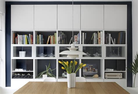 besta ikea dining room contemporary with bookshelf bright