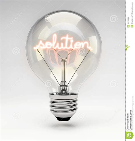 concept light bulb solution stock illustration image