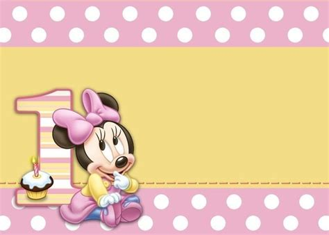 Baby Minnie Mouse 1st Birthday Clipart Apple Mouse First