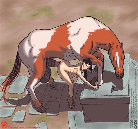 lara with horse by mnogobatko hentai foundry