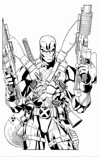 Deadpool Coloring Pages Printable Loaded Fully Dessin
