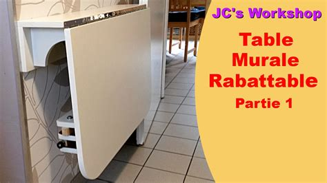 table cuisine rabattable murale comment faire une table de cuisine murale rabattable 1 2