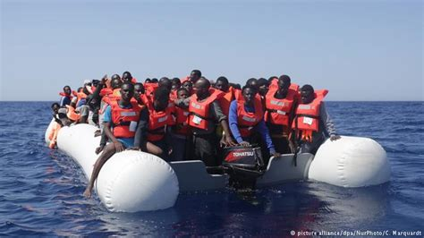 Overcrowded Refugee Boat by Major Ngos Halt Refugee Rescue Operations Off Libyan Coast