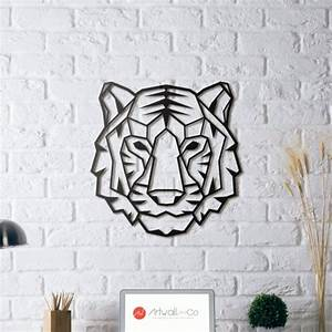 Décoration Murale Métallique : d coration murale m tal tigre artwall and co ~ Melissatoandfro.com Idées de Décoration